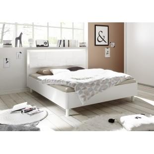 Łóżko włoskie białe XAVIER z wezgłowiem prostym 160/200 lub 180/200