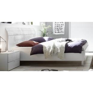 Łóżko włoskie białe XAVIER z wezgłowiem zaokrąglonym 160/200 lub 180/200