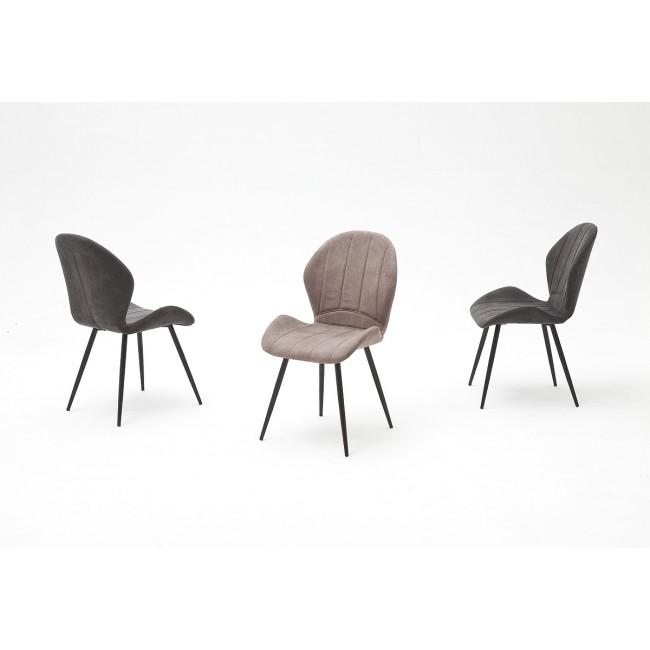 Krzesło PERU nogi lakier antracyt, dwa kolory tkaniny
