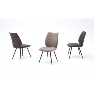 Krzesło NAWARA nogi lakier antracyt, dwa kolory tkaniny