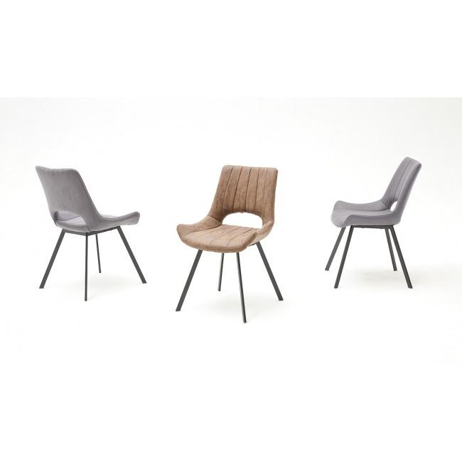 Krzesło OLIMP nogi lakier antracyt, dwa kolory tkaniny