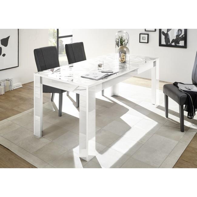 Stół z możliwością przedłużenia PRYZMAT biały 180/90/79 cm