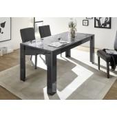 Stół z możliwością przedłużenia PRYZMAT szary 180/90/79 cm
