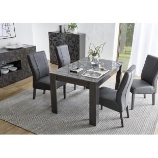 Stół rozkładany PRYZMAT szary 137-185/90/79 cm