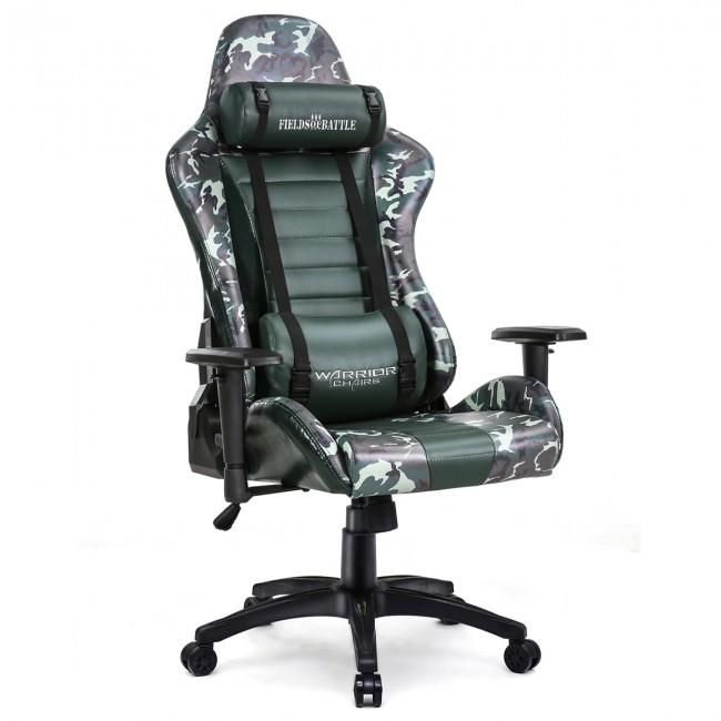 Fotel dla gracza FOREST CAMOUFLAGE ekoskóra
