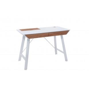 Biurko pod laptop biały mat LENA blat 110/55 cm
