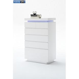 Komoda biała nowoczesna BOSTON 7 73/114 cm