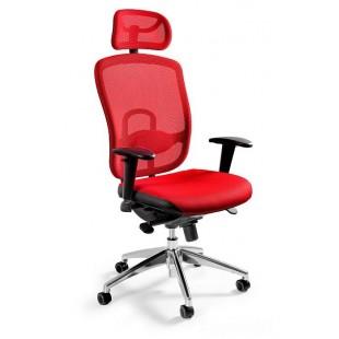 Fotel biurowy  dla wymagających WIKTOR czerwony