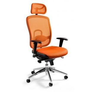 Fotel biurowy  dla wymagających WIKTOR pomarańczowy