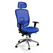 Fotel biurowy  dla wymagających WIKTOR niebieski
