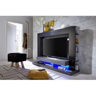 Szafka RTV TEX czarna 170/124/46 cm