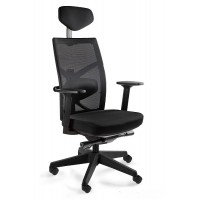Fotel biurowy ergonomiczny NUTA  czarny