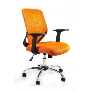 Fotel biurowy UM MIKROBI pomarańczowy