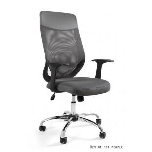 Fotel biurowy MIKROBI PLUS szary