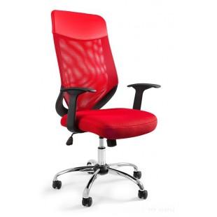 Fotel biurowy MIKROBI PLUS czerwony