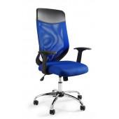 Fotel biurowy MIKROBI PLUS niebieski