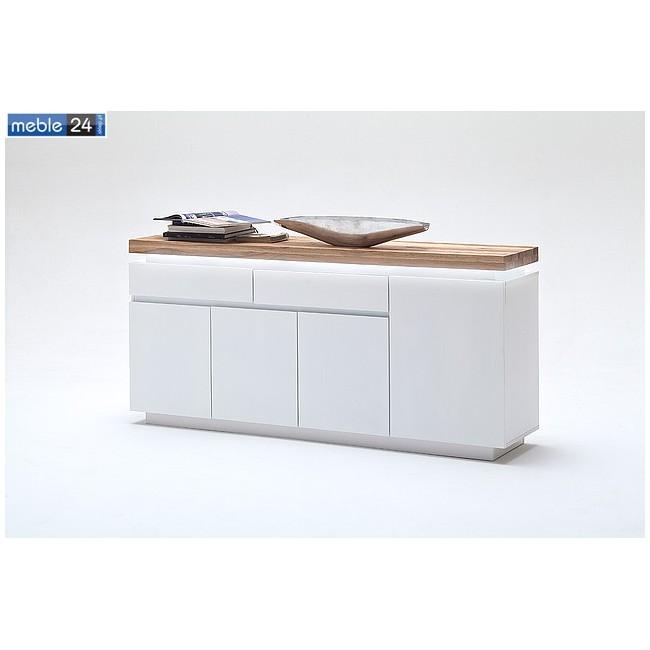 Komoda dąb lity biała FELICJA 94 175/81 cm