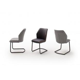 Krzesło na płozie BERD ekoskóra i tkanina