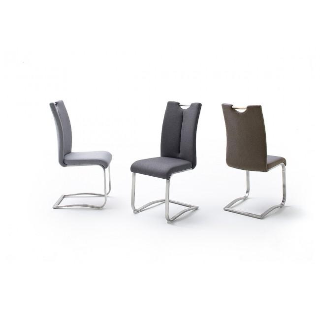 Krzesło ARTUR tkanina trzy kolory, stal szlachetna