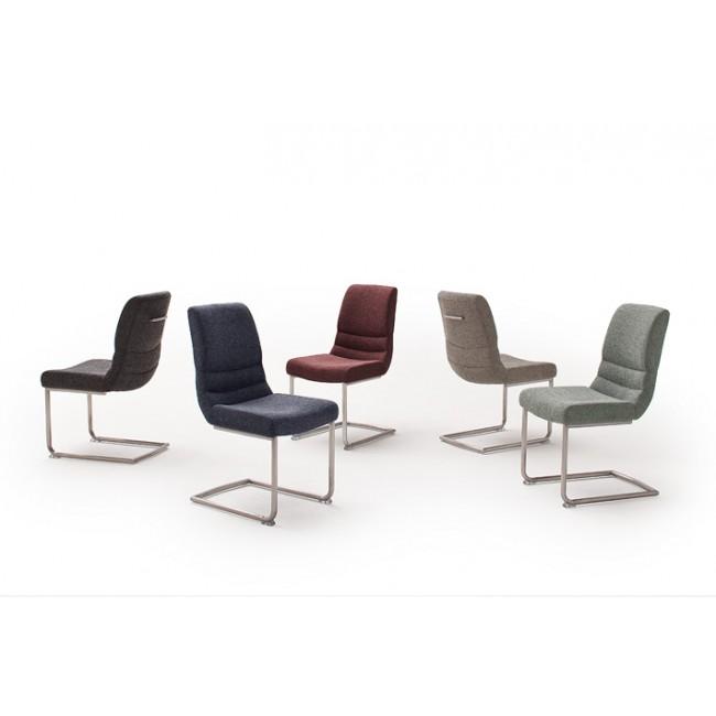 Krzesło TERA S tkanina pięć kolorów, płoza stal szlachetna
