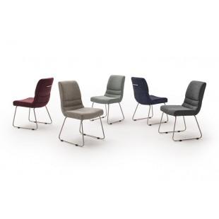Krzesło TERA K tkanina pięć kolorów, stelaż stal szlachetna