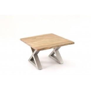 Stolik Kartagina drewno akacjowe długość 75/75/45 cm
