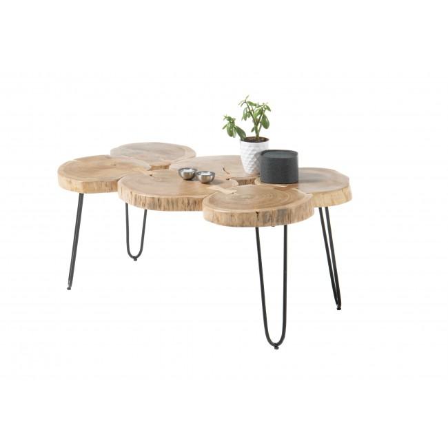 Stolik COLET drewno akacjowe plus metal 100/65/45 cm