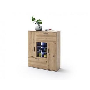 Komoda drewno dębowe olejowane LAND 104/37/123 cm