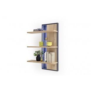 Panel z półkami LAND drewno dębowe olejowane 70/24/105 cm