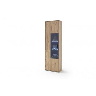 Witryna lewa LAND drewno dębowe olejowane 64/37/207 cm