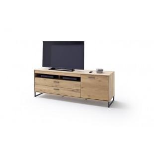 Szafka RTV LAND drewno dębowe olejowane 184/50/67 cm