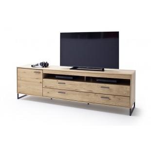 Szafka RTV duża LAND drewno dębowe olejowane 224/50/67 cm