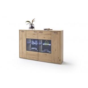 Kredens LAND drewno dębowe olejowane 184/37/123 cm
