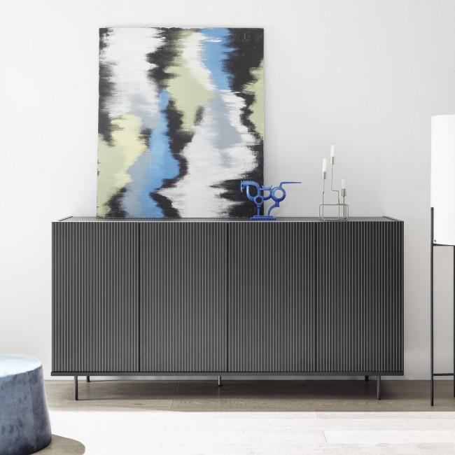 Komoda REMA sitodruk szary lub bambus 184/50/101 cm