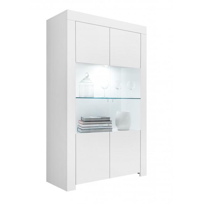 Witryna szeroka FRIEND lakier biały mat 110/42/186 cm