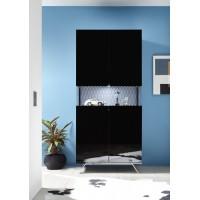 Włoska komoda 4 drzwi AMOR czarna 184/101/50 cm