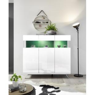 Włoska komoda 3 drzwi AMOR biała 138/133/50 cm