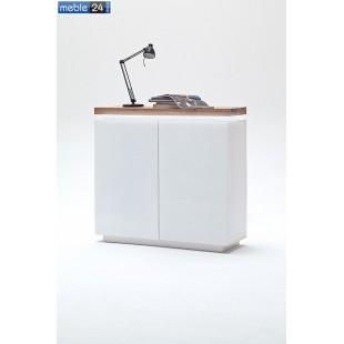 Komoda dębowa biała FELICJA 98 120/114 cm