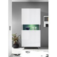 Włoska witryna 2 drzwi AMOR biała 93/207/50 cm