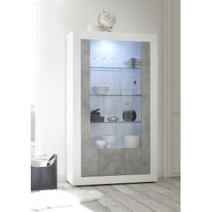 Witryna RUBIN fronty beton lub oxyde 110/191/42 cm