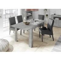 Stół rozkładany RUBIN optyka betonu 137-185/90/79 cm