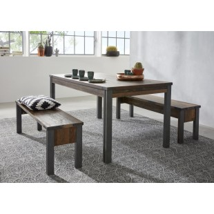 Stół PRIMERA folia drewno postarzane 160/77/90 cm
