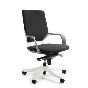 Fotel biurowy nowoczesny biało czarny POLA II