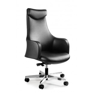 Fotel biurowy OSSO ekoskóra lub skóra naturalna czarny