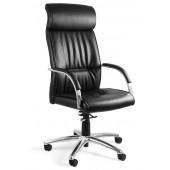 Fotel biurowy RAMBO ekoskóra lub skóra naturalna czarny