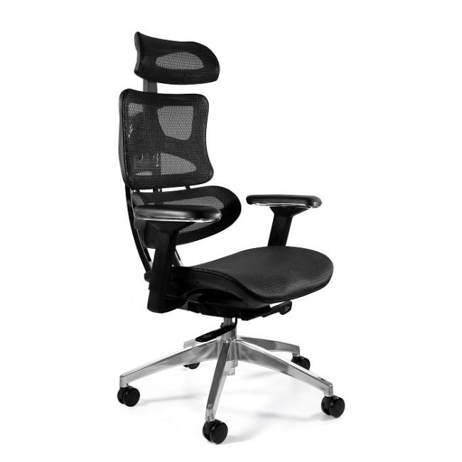 Fotel biurowy nowoczesny TECH aluminium