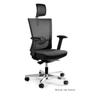 Fotel biurowy nowoczesny FORT czarny