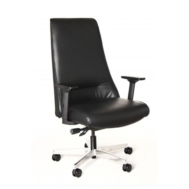 Fotel biurowy SEUL eko lub skóra  czarny