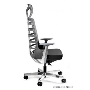 Fotel biurowy NELLY czarny tkanina lub skóra