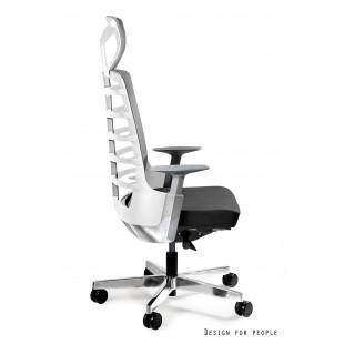 Fotel biurowy NELLY biały tkanina lub skóra